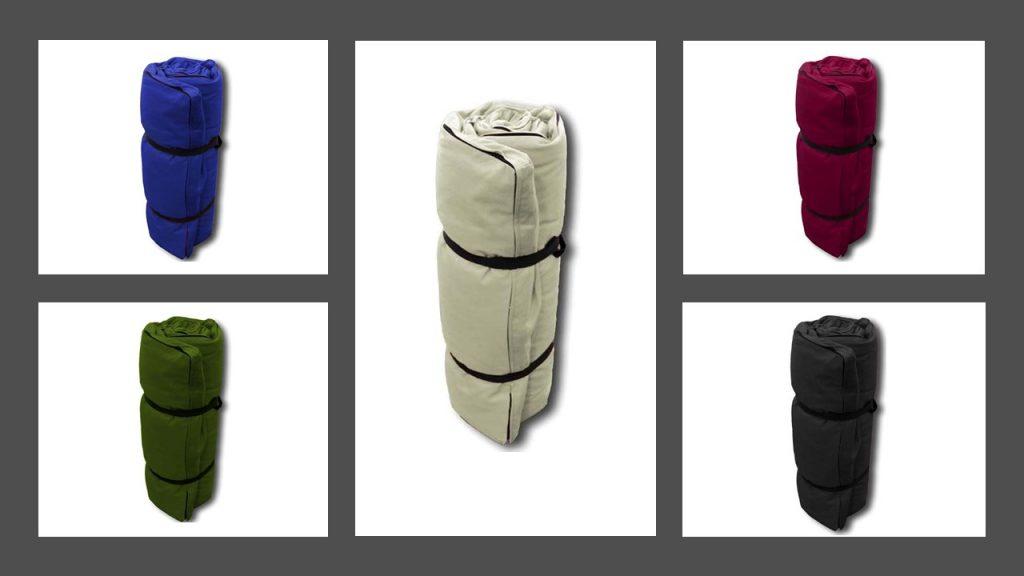 Toutes les couleurs disponibles de futons de shiatsu de la marque cinuis (en coton)