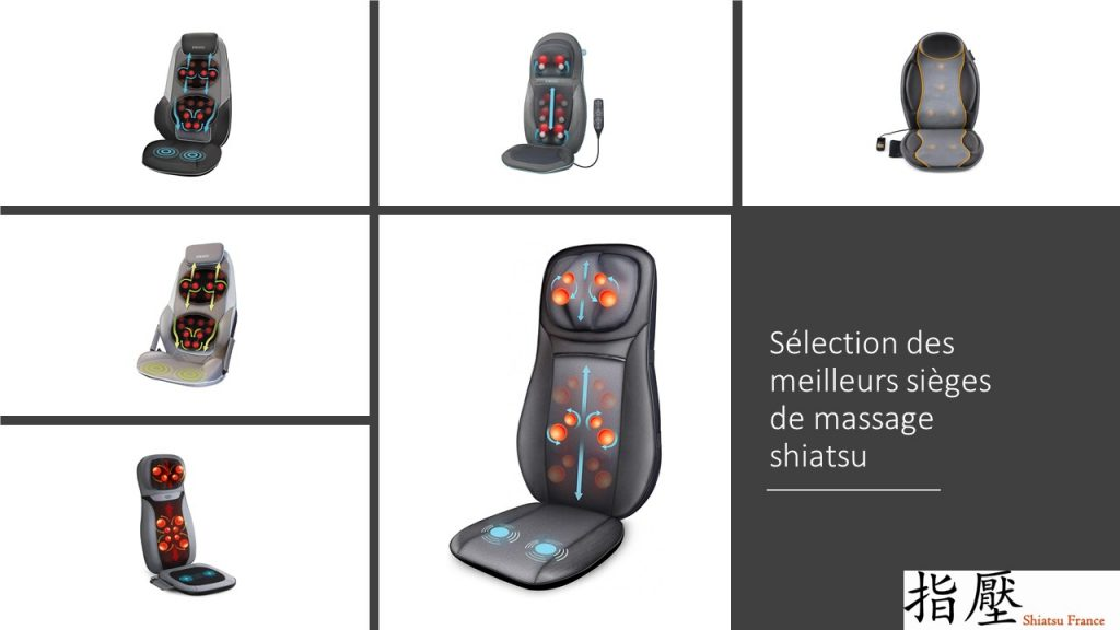 Une sélection des meilleurs sièges de massage shiatsu avec les meilleurs marques : Homedics, Intey, Naipo, Snailax